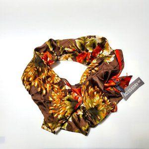 NWT Accessory St Floral 100% Silk Scarf